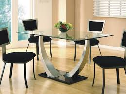 Round Glass Dining Table With Wooden Legs Kitchen Glass Kitchen Table And 15 Modern Round Glass Kitchen