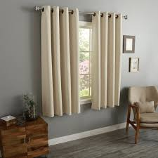 54 Inch Curtains And Drapes Aurora Home Thermal Insulated Blackout 54 Inch Grommet Top Curtain