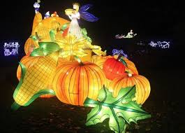 festival of light birmingham chinese lantern festival lights up leeds roundhay park bbc news