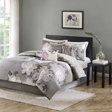 Gray Crib Bedding Sets by Bedding Set Gray Leaves Bedding Set Queen 7 Piece 4 Gray Bedding