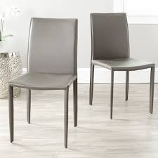 Grey Dining Chairs Safavieh Mid Century Dining Jazzy Bonded Leather Grey Dining