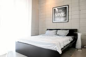 Linen Bed Frame White Bed Linen Black Bedframe Interior Design Ideas