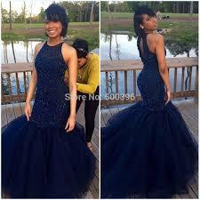 luxury beading navy blue mermaid evening dress 2015 vestidos de