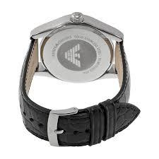leather armani bracelet images Emporio armani black dial black leather men 39 s armani watch ar0643 jpg