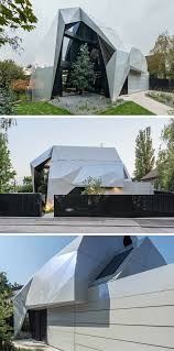 a unique house with a special geometry and custom interior