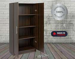 homcom 71 wood kitchen pantry storage cabinet kitchen storage pantry cabinet 2 door organizer cupboard wood brown modern