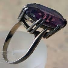 amethyst rings vintage images Vintage silver amethyst ring in a size n uk jpg