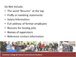 the word resume resume writing workshop ppt