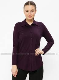 purple blouse plus size point collar plus size blouse metex