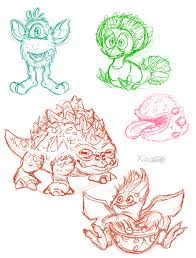 my singing monsters sketches by xiao668 on deviantart