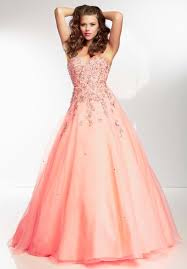 coral pink quinceanera dresses buy tailor made most popular sweetheart length applique bead