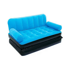 Blow Up Furniture by Bestway Flocked Double Inflatable Air Bed Couch Sofa 1 88 X 1 52