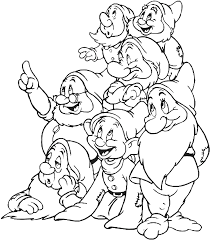 blanche neige 1 snow white dwarfs coloring pages