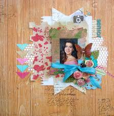 8 ideas for using faux bois patterns on your scrapbook pages
