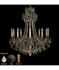 Wide Chandelier American Brass And Crystal Ch9258 Biella 36 Inch Wide 10 Light