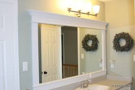 Wood Framed Bathroom Mirrors by Large Bathroom Mirror Full Image For Custom Framed Bathroom