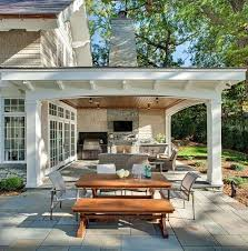 Outdoor Bbq Patio Ideas Best 25 Covered Outdoor Kitchens Ideas On Pinterest Outdoor