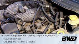 iat sensor replacement dodge chrysler plymouth 2 7l video