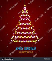 Garland Fairy Lights by Shiny Christmas Tree Christmas Tree Garland Stock Illustration