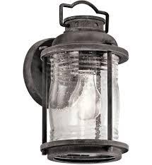 kichler lighting lights kichler 49569wzc ashland bay weathered zinc 6 inch 1 light