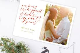 Just Married Cards Christmas Cards U0027tis The Season Tied U0026 Two