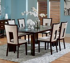 homelegance benwick 7 piece rectangular dining room set in dark