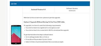 how to upgrade android version lg g4 on us cellular receives android 6 0 ota software update