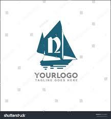 retro nautical logo marine sail boat stock vector 659173843