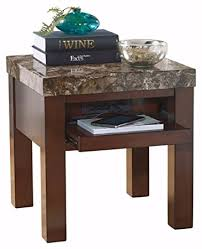 end table with usb port amazon com ashley furniture signature design kraleene end table