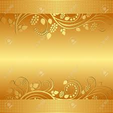 golden background decorated floral ornaments royalty free cliparts