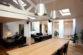 salon avec cuisine ouverte plan maison avec mezzanine ouverte sur salon best decoration salon