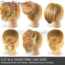 bun clip hair extensions hair clip in hair bun wigs ponytail