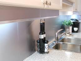 Stainless Steel Backsplash Sheet Of Stainless Steel by Kitchen Metal Backsplash For Kitchen Kitchentoday Home Depot Range