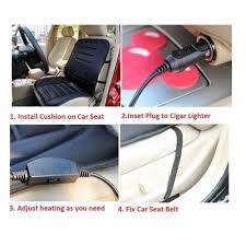 coussin si e auto 12 v chaud chauffée siège d auto couverture de coussin chauffage