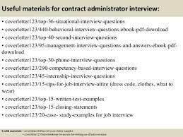 contract administrator cover letter procurement job description