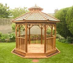 14 cedar wood gazebo designs octagon rectangle hexagon and