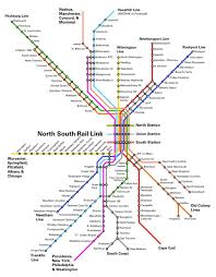 Boston T Line Map by A Region Divided U2014 North South Rail Link