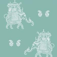 1014 001839 turquoise elephant ophelia kismet wallpaper by a