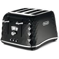 Italian Toaster Breville Vtt476 Impressions 4 Slice Toaster Black Amazon Co Uk