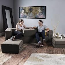 convertible sleeper sofa 3 ottomans green jaxx touch of