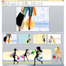 free shopping design ppt templates for fashion designers or