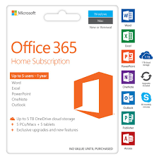microsoft office 365 home 5 device 12 months card officeworks