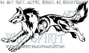 tribal running wolf by wildspiritwolf on deviantart