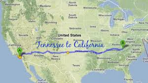 Tennessee Road Map by Road Trip From Tennessee To California Youtube