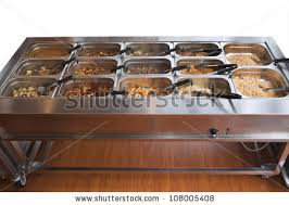 chinese buffet warmer display variety food stock photo 108005408