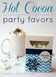 hot cocoa favors hot cocoa favors creative ramblings