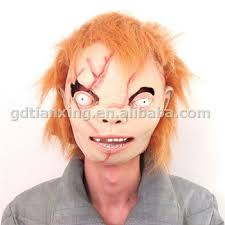 chucky mask alibaba express hot selling realistic chucky mask rubber