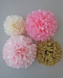Bridal Shower Centerpiece Ideas by Pink U0026 Gold Tissue Paper Pom Poms 4 Piece By Prettywithsprinkles