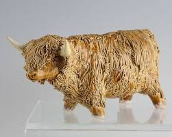 cwp scotland pottery bull figure ornament b for sale antiques