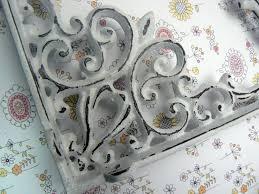 Shabby Chic Shelf Brackets by Shelf Bracket Cast Iron Brace Ornate Fleur De Lis Fdl Shabby Chic